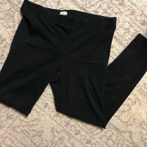 TWO Pairs Black J.Crew Cotton Leggings
